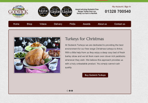 Seasonal SEO Online turkey sales at Christmas